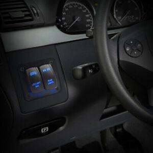 Car Rear Light LED Light Bar Blue LED Rocker On/Off Switch Panel Kit Accessories