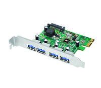 SIIG 4-Port USB 3.0 PCIe Host Adapter, UASP Function, Brackets (JU-P40412-S1)