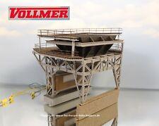 H0 Fertigmodell Vollmer 5722 Große Bekohlungsanlage +Elektrischer Beladefunktion