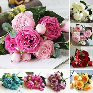 Artificial Flowers Fake Bunch Vine Hanging Garland Party Bouquet Wedding Decors