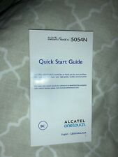 Alcatel Onetouch Fierce XL Instruction Manual Quick Start Guide English Spanish