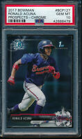 PSA 10 RONALD ACUNA JR. 1st 2017 Bowman Chrome Braves Rookie Card RC GEM MINT