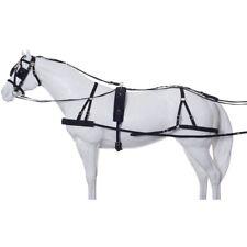 Tough-1 Herculean Nylon Driving Harness Breeching Style Horse Size Black