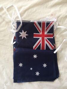 6 Pack 3.5M Australian Flag Bunting Australia Day flags banner( total 21m)