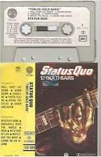 STATUS QUO cassette K7 tape 12 GOLD BARS france french 7231 029 paper label