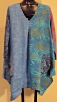 NEW Art To Wear Wild Woman Rayon Patch Lagenlook Top Tunic SM