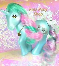 HQG1C Vintage G1 MLP Style Custom Unicorn ❤ PUPPY LOVE ❤ Pearlized Pony w Charm!
