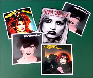 NINA HAGEN, Set of FIVE Glossy Vinyl Promo Stickers