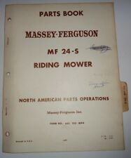 Massey Ferguson MF 24-S Riding Mower Parts Catalog Manual Book Original! 5/67