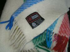 Samband of Iceland 100% Wool Woven Colorful Striped Blanket Lap Throw Blanket