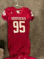 game worn Indiana Hoosiers NCCA Adidas Football Jersey & Undershirt 2004