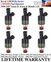 Set of 6 OEM Rochester Fuel Injectors For 1996-1997 Isuzu /& Acura /& Honda 3.2L