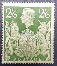 GB KGVI SG476, 2/6 Green, Good Used, 1939 -1948 Issue
