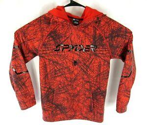 Spyder Hoodie Sweater Boys / Girls XL Pullover Long Sleeve Red Black
