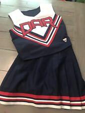 "Authentic Varsity Cheerleader Uniform DAR  36"" Top 26"" Skirt Adult Cosplay S M"
