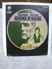 CED VideoDiscs Absence of Malice, Columbia Pictures, RCA SelectaVision