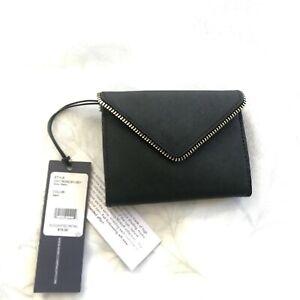 NWT Rebecca Minkoff Molly Metro Saffiano Leather Card Case Key Chain Vari Colors
