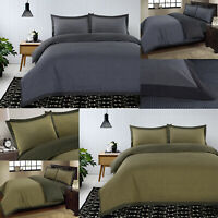 New Luxury 100% Cotton Bedding Duvet Quilt Cover Set Soft Cosy Woven Dotted Grey
