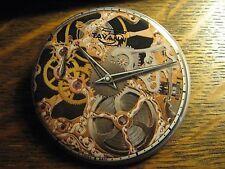 Tavannes Skeleton Collection Gold Watch Advertisement Pocket Lipstick Mirror