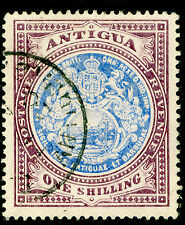 ANTIGUA SG49, 1s blue & dull purple, FINE USED, CDS. Cat £70. WMK CA
