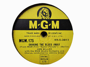 ANN MILLER - Shaking The Blues Away / FRED ASTAIRE 78 rpm disc (A++)