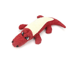Puppy Pet Dog Teeth Chewing Play Toy Crocodile Squeaker Squeaky Sound Soft Plush