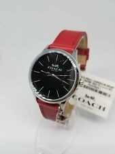 Coach Womens Watch Stainless 36MM 14502936 Red Leather