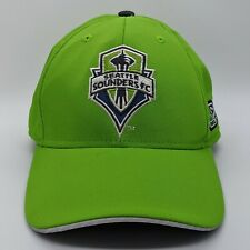 ADIDAS Climalite Seattle Sounders FC MLS Logo Hat Fitmax Stretch Cap S/M Green