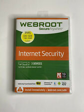 New Webroot SecureAnywhere Internet Security w/ Antivirus - Windows 10 3 Devices
