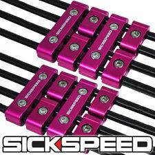 12 PINK ENGINE SPARK PLUG WIRE SEPARATOR DIVIDER CLAMP KIT FOR 8MM 9MM 10MM B