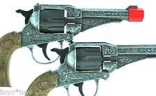 METAL Cap Guns Shoot 8 Shot Ring Caps  PAIR of TWO (2) Cap Gun Store 10982