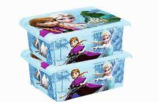 2 x Coffre à jouets à boîte Fashion-Box DISNEY PRINCESSE DES NEIGES 10 L