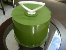Vintage Disc O Case 45rpm Carrying Case Olive Green  Working lock top