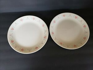 """(2) Corelle FOREVER YOURS Dinner Plates - 10 1/4"""" - Good used"""
