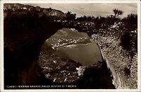 Insel Capri Italien s/w AK 1937 gelaufen Marina Grande dalle Rovine di Tiberio