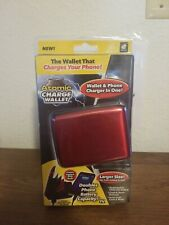 ATOMIC CHARGE WALLET WALLET AND PHONE CHARGER IN ONE BRAND NEW SEALED RED