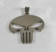 ciondolo Teschio acciaio 316l stile Il Punisher, american cecchino ,biker