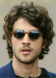 Heat Resistant Wig New Fashion Charm Men's Short Dark Brown Curly Natural Wigs