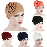 HK- Muslim Hijab Cap Solid Color Stretch Chemo Turban Hat Women Head Scarf Sera