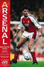 Football Programme>ARSENAL v MAN UTD Feb 1992