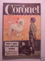 CORONET September 1952 FRANCIS X BUSHMAN ARTURO TOSCANINI THERESE LE PRAT +++