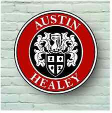 AUSTIN HEALY LOGO 2FT GARAGE SIGN WALL PLAQUE CLASSIC CAR ROADSTER SPRITE 3000