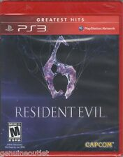 PS3 RESIDENT EVIL 6 GREATEST HITS for PS3 SEALED NEW
