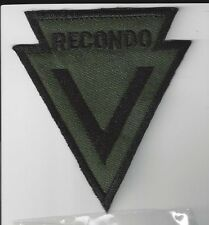 MILITARY PATCH - U. S. ARMY- MACV RECONDO - SUBDUED