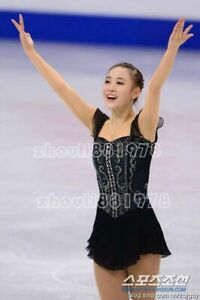 New Girls women Ice Figure Skating Dress For Competition black