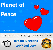 Destiny 2 Planet of Peace Emblem: For Xbox, PS4 & PC - Instant Delivery