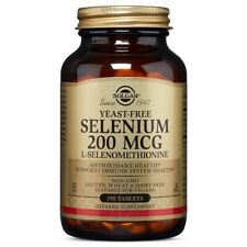 Solgar Yeast-Free Selenium 200 mcg 250 Tablets Made In USA, FREE US SHIPPING