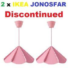 2 x NIP IKEA JONOSFAR Pink Hanging Modern Umbrella PENDANT LAMP 902.269.38 Limit