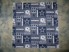 NFL DALLAS COWBOYS XL BLOCK PATTERN HEAD BANDANA - APPROX 25 ""