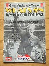 BOBBY MOORE*OSGOOD*PETERS*BELL*SUMMERBEE*CALLAGHAN*WILSON SIGNED 1982 PROGRAMME